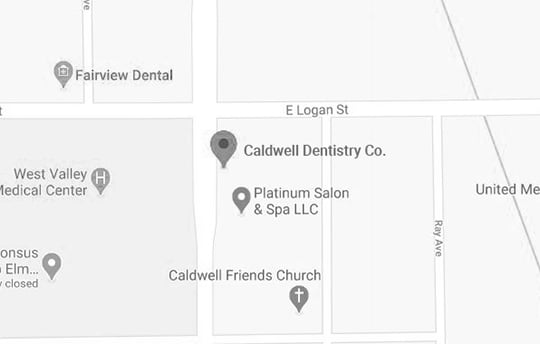 Detailed map of the Caldwell area