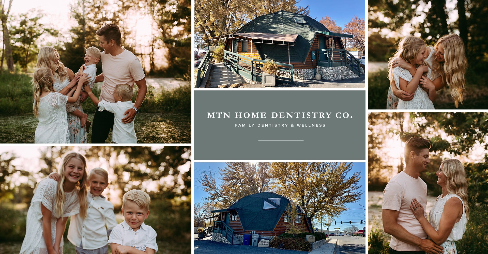 Collage of Mountain Home Dentistry Co with our dentist in Mountain Home, ID